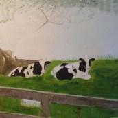 Chillande kritter - Akvarell av Jan Lindgren