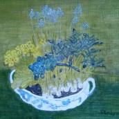 Vårterrin - oljemålning på linneduk av Jan Lindgren
