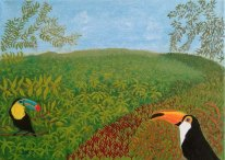 Kärlek vid första ögonkastet - oljemålning på linneduk av Jan Lindgren