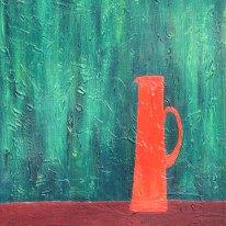Vas - Textur och oljemålning på linneduk av JDL