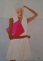 Rebecca - oljemålning på linneduk av Jan Lindgren