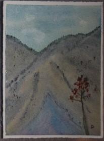 Ullnatippen 2717. Akvarell av Jan David Lindgren