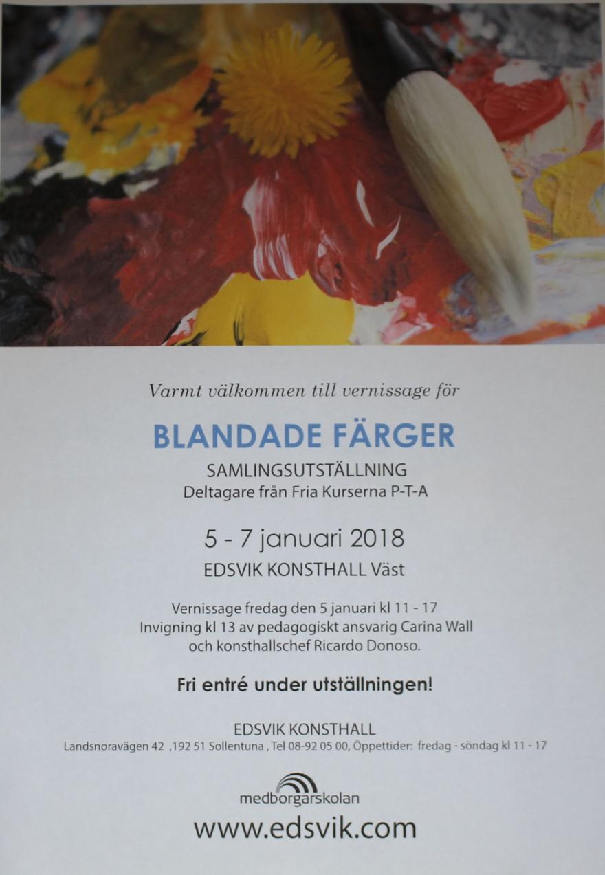 Inbjudan Blandade Färger 2018_01_05