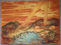 Bergssjö. Akvarell av Jan David Lindgren