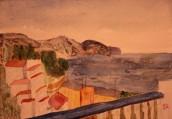 Från Calle Bajamar. Akvarell av Jan David Lindgren