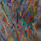Organiskt. Akvarell av Jan David Lindgren