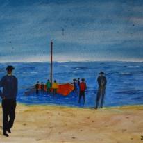 Skagen. Akvarell av Jan David Lindgren