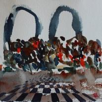 Danshak. Akvarell av Jan David Lindgren