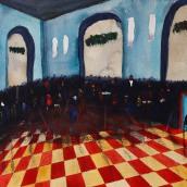 Panelhöna. Akvarell av Jan David Lindgren